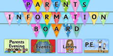 Parent Notice Board Pack