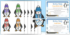 Penguin Matching Busy Bag Prompt Card and Resource Pack
