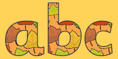 Autumn Themed A4 Display Lettering