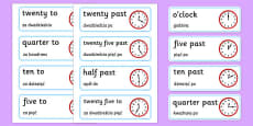 Time Word Cards Polish Translation