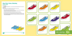 Shoe Pairs Colour Matching Busy Bag Resource Pack for Parents