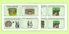 Hansel and Gretel Story Sequencing (4 per A4)