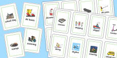 Two Syllable 'SC', 'SK' Playing Cards
