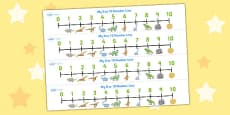 Dinosaurs Number Line (0-10)