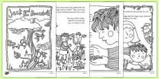 Jack and the Beanstalk Mindfulness Colouring Story
