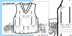 AFL Australian Football League All About Me Football Vest