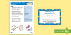 The Gingerbread Man Boat STEM Activity and Prompt Card Pack