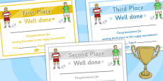 Rugby Tournament Certificates