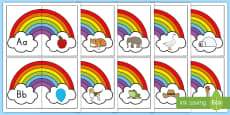* NEW * Rainbow Beginning Sounds Matching Puzzle