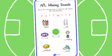 AFL Australian Football League Missing Sounds Worksheet