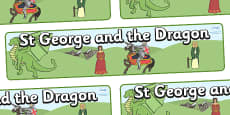 St George And The Dragon Display Banner