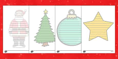 Christmas Shape Poetry Templates