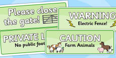 Farm Roleplay Signs