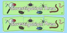 Investigation Area Sign