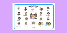 Family Word Mat Urdu