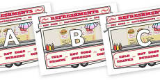 A-Z Alphabet on Fairground Food Vans