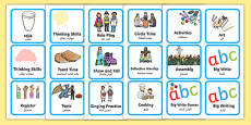 Visual Timetable for KS1 Arabic Translation