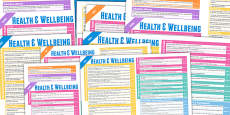 Scottish Curriculum For Excellence Health And Wellbeing Overview Posters Early To Second