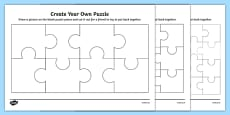 Create Your Own Puzzle Activity Sheet