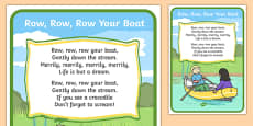 Row Row Your Boat Song