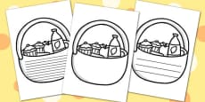 Picnic Basket Writing Frames