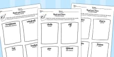 Seaside Themed Differentiated Read and Draw Worksheets Polish Translation
