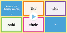 Phase 2 to 5 Tricky Words Quick Read PowerPoint