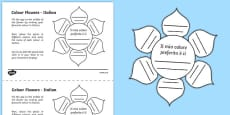 MFL Italian Colour Flowers Activity Sheet