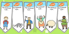 The Boy Who Cried Wolf Editable Bookmarks