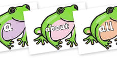 100 High Frequency Words on Green Tree Frog