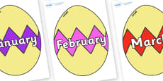 Months of the Year on Easter Eggs (Cracked)