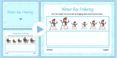 Winter Size Ordering Flipchart Activty