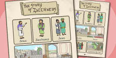 Zacchaeus the Tax Collector Bible Story Vocabulary Poster