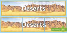 Deserts Display Banner