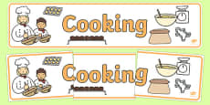 Cooking Display Banner