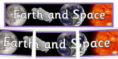Earth and Space Photo Display Banner