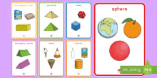* NEW * 3D Shapes with Everyday Examples Display Poster