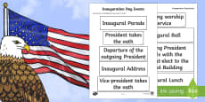 KS2 Inauguration Day Events Ordering Activity