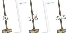 Foundation Stage 2 Keywords on Brushes