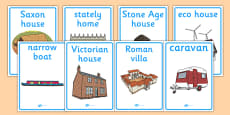 Homes Through the Ages Display Posters