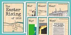1916 Rising Fact File Display Posters