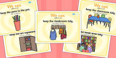 We Can Classroom Rule Display Posters Arabic Translation
