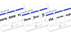 Number Word Cards (0-100)