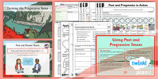 PlanIt Y2 SPaG Lesson Pack: Forming the Progressive Tense