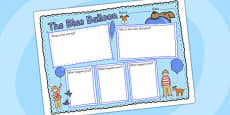 Book Review Writing Frame to Support Teaching on The Blue Balloon