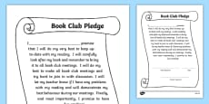 Book Club Pledge