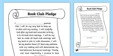 Book Club Pledge