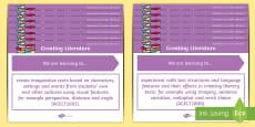 * NEW * Literature Content Descriptions Creating Literature Display Posters