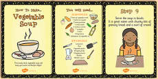 Vegetable Soup Recipe Cards