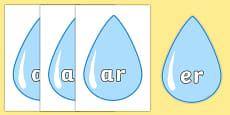 Phase 3 Phonemes on Raindrops